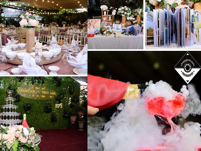 chụp hình tiệc cưới