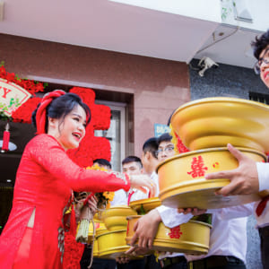 Chụp hình phóng sự cưới - Lễ cưới gia tiên Hoàng Anh - Ngọc Châu