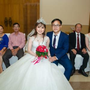 Chụp hình đám hỏi Trà Mi & Anh Văn