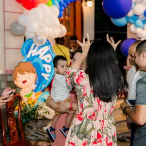 Chụp hình thôi nôi Victor Quang Vinh