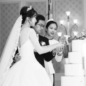 Chụp hình tiệc cưới lễ báo hỷ Võ Đức & Hạnh Quyến - Grand Palace
