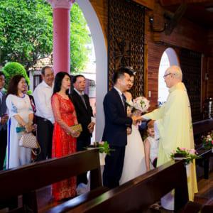 Chụp phóng sự hôn phối Đức & Oanh giáo xứ Mai Khôi