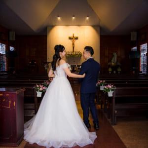 Chụp hình lễ cưới nhà thờ