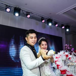 Chụp hình phóng sự tiệc cưới Vĩnh Thái & Lam Linh | nhà hàng Queen Plaza, Kỳ Hòa