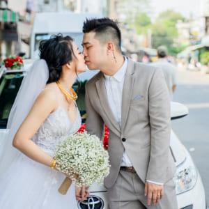 Chụp hình phóng sự rước dâu Vĩnh Thái & Lam Linh tại quận 8, TP.HCM