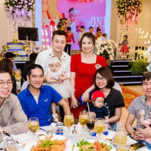 Chụp tiệc thôi nôi Bảo Nghi | Nhà hàng Cát Đằng Palace Quận 9