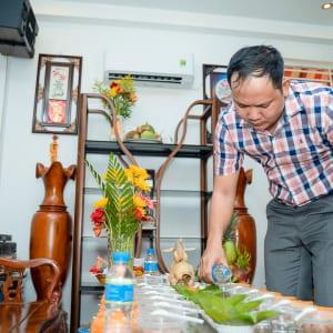 Chụp hình lễ cúng và tiệc mừng thôi nôi bé Mỡ | Nhà hàng Nam Bộ - Tô Hiến Thành