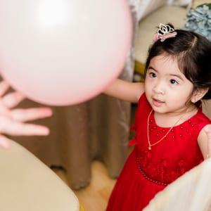 chụp hình sinh nhật bé 2 tuổi bé Suri - nhà hàng Sườn Muối Ớt