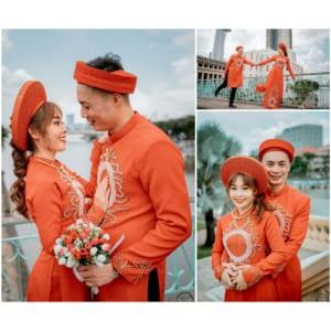 Chụp ảnh lễ đính hôn Văn Tạo - Bích Vân tại quận 1
