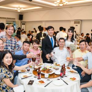 Chụp truyền thống hiện đại Tiệc báo hỷ Ngô Bình & Thanh Hương | nhà hàng Hoàng Long