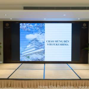 Chụp hình hội thảo du lịch fukushima