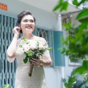 Chụp hình truyền thống hiện đại lễ gia tiên rước dâu dep 2021