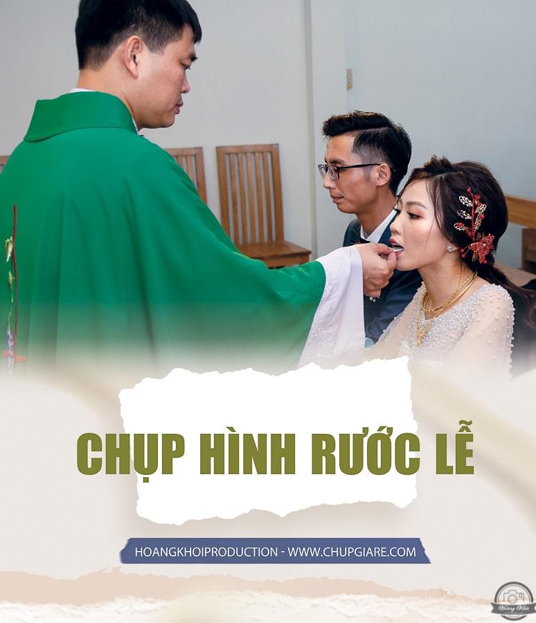 Quay phim chụp ảnh nghi thức công giáo