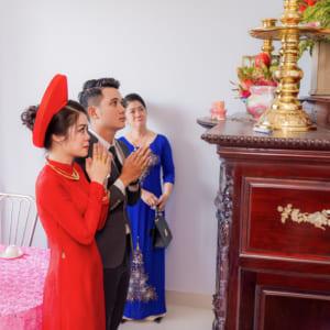 Album chụp phóng sự cưới lễ gia tiên cảm xúc